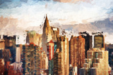 Manhattan Skyscrapers - In the Style of Oil Painting Giclee Print by Philippe Hugonnard
