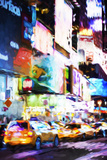 Night Times Square - In the Style of Oil Painting Giclee Print by Philippe Hugonnard