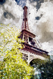 The Eiffel Tower IV - In the Style of Oil Painting Stampa giclée di Philippe Hugonnard