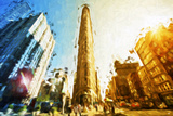 Flatiron Building II - In the Style of Oil Painting Giclee Print by Philippe Hugonnard