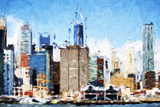 Manhattan Architecture IV - In the Style of Oil Painting Giclee Print by Philippe Hugonnard