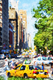NYC Urban Scene II - In the Style of Oil Painting Giclee Print by Philippe Hugonnard