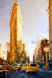 The Flatiron Building - In the Style of Oil Painting Giclee Print by Philippe Hugonnard