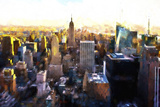 Manhattan Cityscape III Giclee Print by Philippe Hugonnard