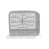 Political News Timer - Cartoon Giclee Print by Kim Warp