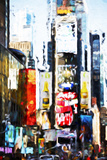 Times Square II - In the Style of Oil Painting Giclee Print by Philippe Hugonnard