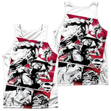 Tank Top: Superman- Angry Red (Front/Back) Tank Top