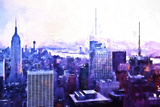 Manhattan Purple Giclee Print by Philippe Hugonnard