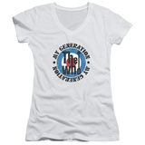 Juniors: The Who- My Generation Distressed V-Neck T-Shirt
