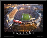 Oakland: Network Associates, Raiders Football Mounted Print by Mike Smith