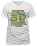 Teenage Mutant Ninja Turtles - 80's Toon Group (slim fit) T-Shirt