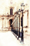 Street Royal Lamps in Paris Giclee Print by Philippe Hugonnard