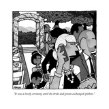 """It was a lovely ceremony until the bride and groom exchanged epithets."" - New Yorker Cartoon Premium Giclee Print by William Haefeli"