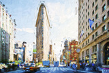 Flatiron Building III - In the Style of Oil Painting Giclee Print by Philippe Hugonnard