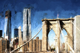 Towers City Bridge Giclee Print by Philippe Hugonnard