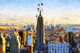 New York City - In the Style of Oil Painting Giclee Print by Philippe Hugonnard