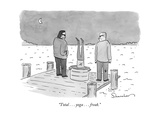 """Total . . . yoga . . . freak."" - New Yorker Cartoon Premium Giclee Print by Danny Shanahan"