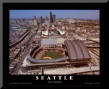 Seattle: Safeco Field, Mariners Day Game, 2003 Mounted Print by Mike Smith