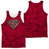Tank Top: Superman- Super Powers (Front/Back) Tank Top