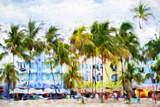Ocean Drive Beach II - In the Style of Oil Painting Giclee Print by Philippe Hugonnard