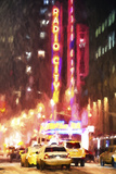 Radio City Taxis Giclee Print by Philippe Hugonnard
