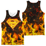 Tank Top: Superman- Fire Logo (Front/Back) Tank Top