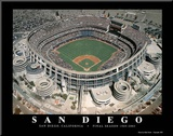 San Diego Padres Qualcom Stadium Final Season, c.1969-2003 Sports Mounted Print by Mike Smith