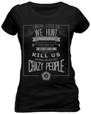Women's: Supernatural - Hunting Creed T-shirts