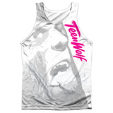 Tank Top: Teen Wolf- Silver Halftone Tank Top