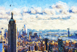 New York Skyline VI - In the Style of Oil Painting Giclee Print by Philippe Hugonnard