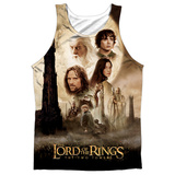 Tank Top: The Lord Of The Rings: The Two Towers- Towers Poster (Black Back) Tank Top