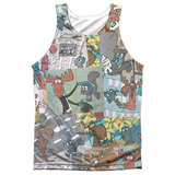 Tank Top: Rocky & Bullwinkle- Collage Tank Top