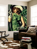 Young Lady with Gloves Posters av Tamara De Lempicka