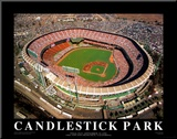 Candlestick Park - San Francisco, California Mounted Print by Mike Smith