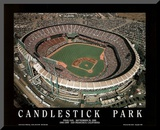 San Francisco Giants Candlestick Park Final Day Sept 30, c.1999 Sports Mounted Print by Mike Smith