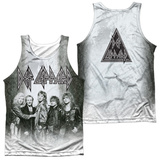 Tank Top: Def Leppard- The Band (Front/Back) Tank Top