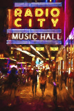 Radio City Music Hall by night Giclee Print by Philippe Hugonnard