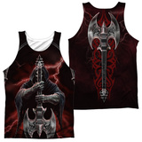 Tank Top: Anne Stokes- Rock God (Front/Back) Tank Top