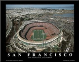 San Francisco 49ers Candlestick Park Sports Mounted Print by Mike Smith