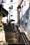 Staircase Montmartre Giclee Print by Philippe Hugonnard