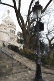 The steps of the Basilica in Montmartre Giclee Print by Philippe Hugonnard