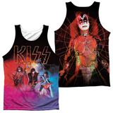 Tank Top: Kiss- Colored Smoke (Front/Back) Tank Top