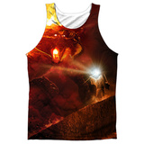 Tank Top: The Lord Of The Rings: The Fellowship Of The Ring- No Passing (Black Back) Tank Top