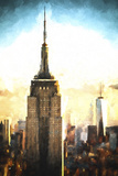 Top of the Empire State Building at Sunset II Giclee Print by Philippe Hugonnard