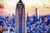 Empire Center - In the Style of Oil Painting Giclee Print by Philippe Hugonnard