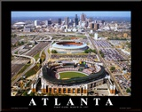Turner Field - Atlanta, Georgia Mounted Print by Mike Smith