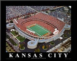 Kansas City Chiefs - Arrowhead Stadium Mounted Print by Brad Geller