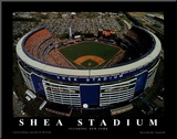 Shea Stadium - New York, New York Mounted Print by Mike Smith