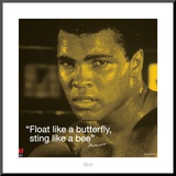 Muhammad Ali: Float Like a Butterfly Mounted Print