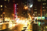 Avenue of the Americas by Night Giclee Print by Philippe Hugonnard